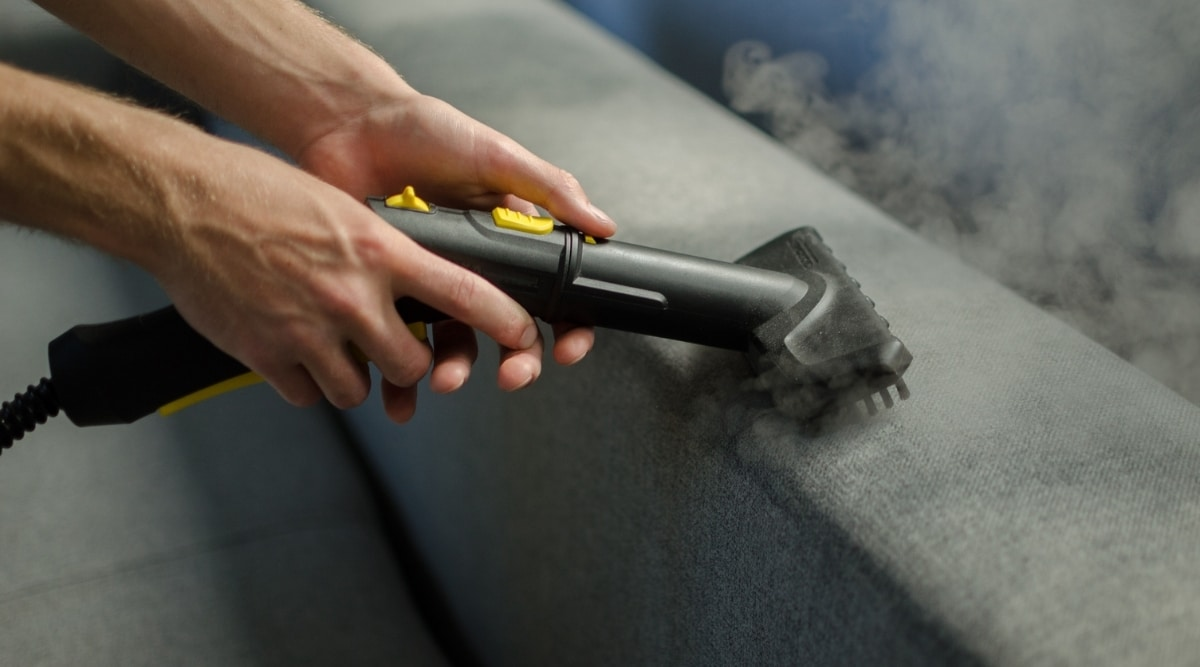Steam Cleaning Couch