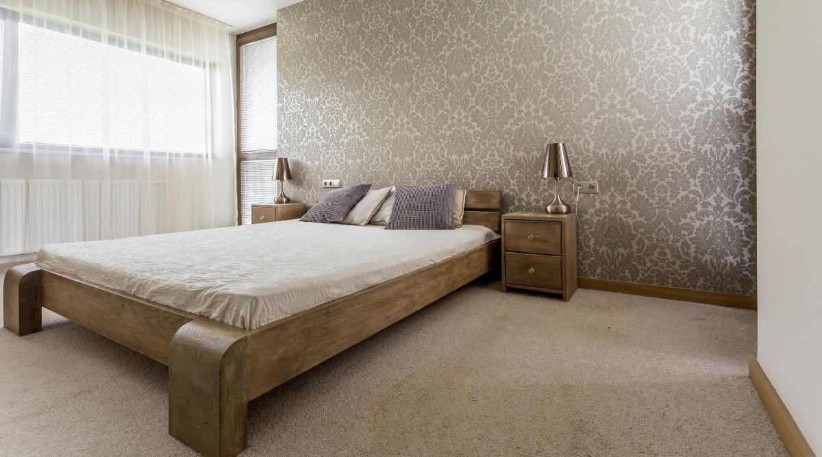 Bed frame with longer legs