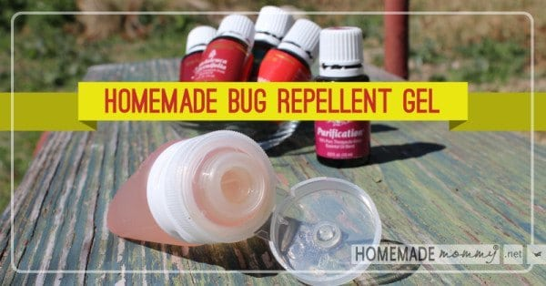 Home made bug repellant gel in various containers