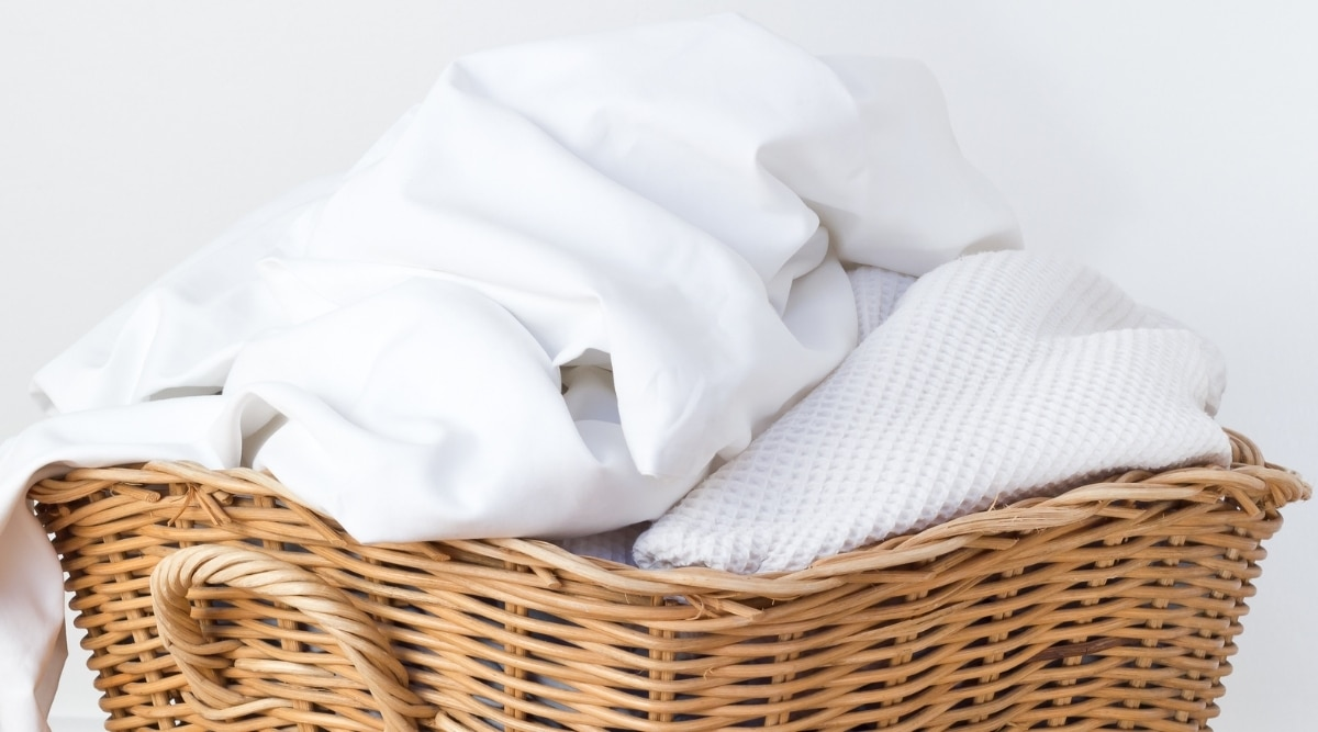 Laundry Basket with Sheets