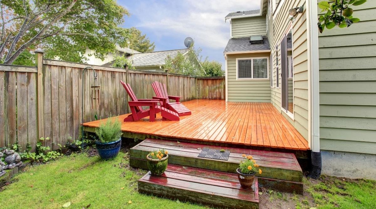 Rain on Backyard Deck